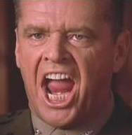 "Jack Nicholson in ""A Few Good Men"""